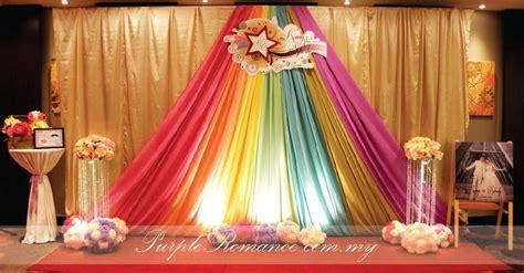 purple rainbow theme wedding decoration