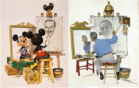 norman rockwell mickey mouse disney and the woodchips