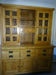 french rustic solid oak large welsh dresser cabinet wall