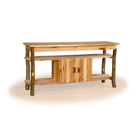 rustic tv stand rustic hickory and oak