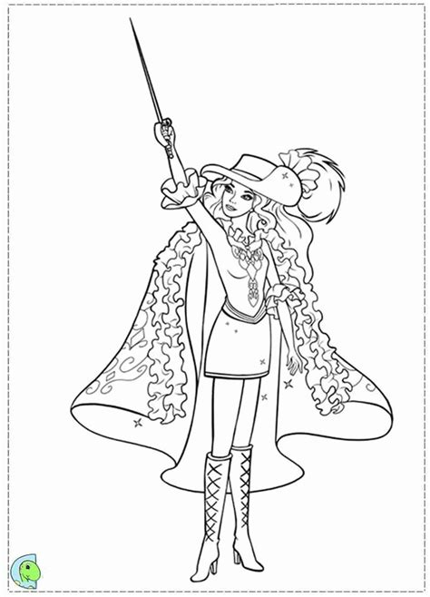 free coloring pages barbie three musketeers free printable coloring pages barbie and the three