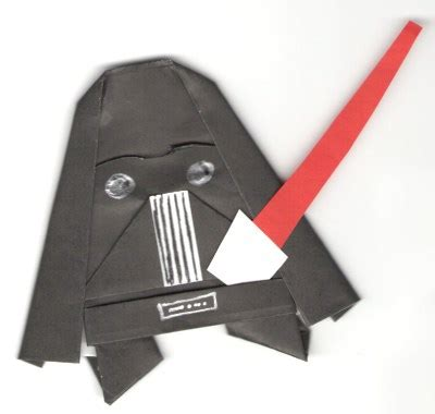 How To Make Darth Paper - origami yoda ii darth paper strikes back folding