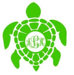 sea turtle monogram turtle monogram car window decal