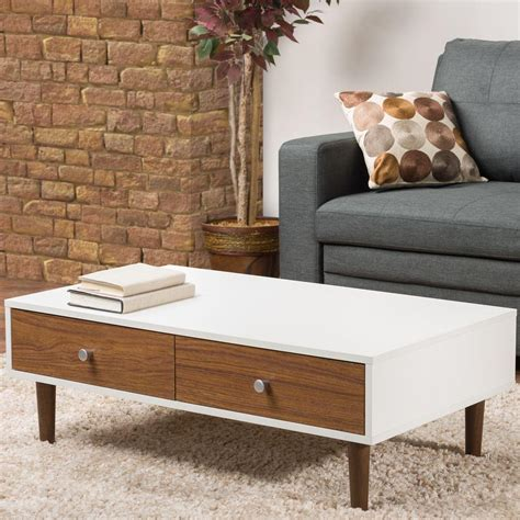 Home Decorators Collection Maldives Walnut Coffee Table Walnut And White Coffee Table