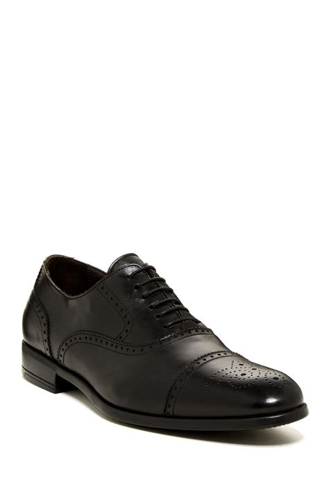 Jared Cap Toe Lace Up Boots Black by Bruno Magli Catello Cap Toe Oxford In Black For Lyst