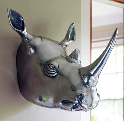 style design animal heads as wall decor yesssss