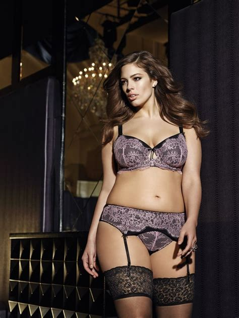 ashley graham lingerie plus size supermodel ashley graham wearing a new bra and