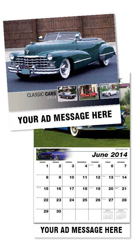 Inexpensive Personalized Calendars Personalized Classic Cars Calendars Custom Printed In Bulk