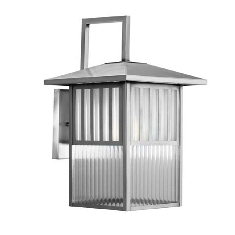allen roth lancetti 15 3 4 in nickel outdoor wall mount