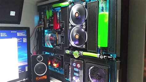 Cabinet For Pc custom water cooled wall pc project quot perforated quot youtube