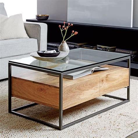 Box Frame Coffee Table Box Frame Storage Coffee Table West Elm