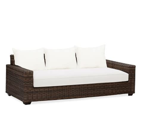 torrey all weather wicker square arm sofa espresso