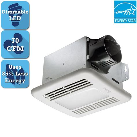 broan ceiling exhaust fan with light broan 70 cfm ceiling exhaust fan with light and heater 655
