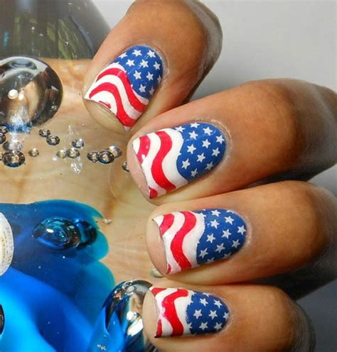 red acrylic 4th of july nils 4th of july nail designs few amazing ideas