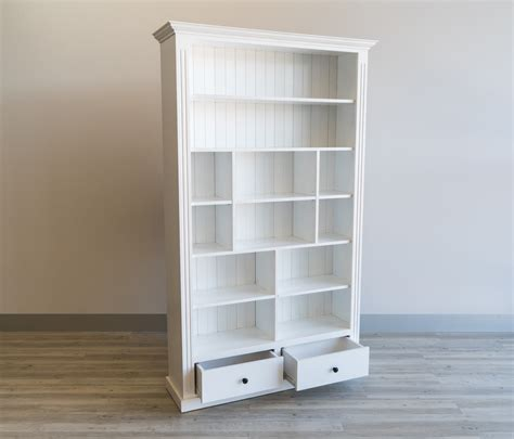 bayview white bookcase   drawers beck urban furniture
