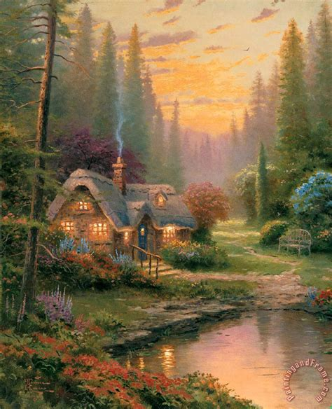 Thomas Kinkade Cottages Paintings Google Search Thomas Kinkade Cottages