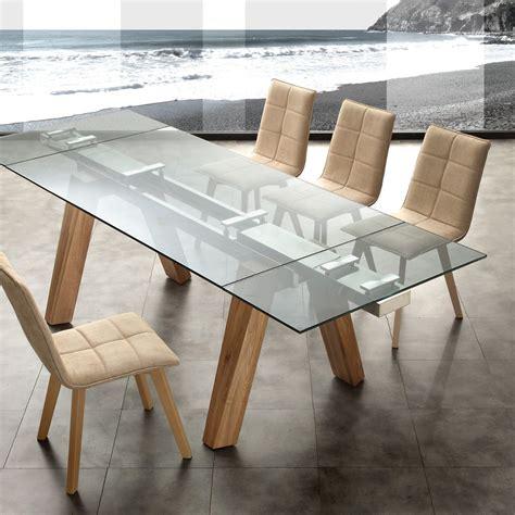 tavoli da pranzo moderni allungabili tavolo da pranzo allungabile in legno acciaio e vetro albenga
