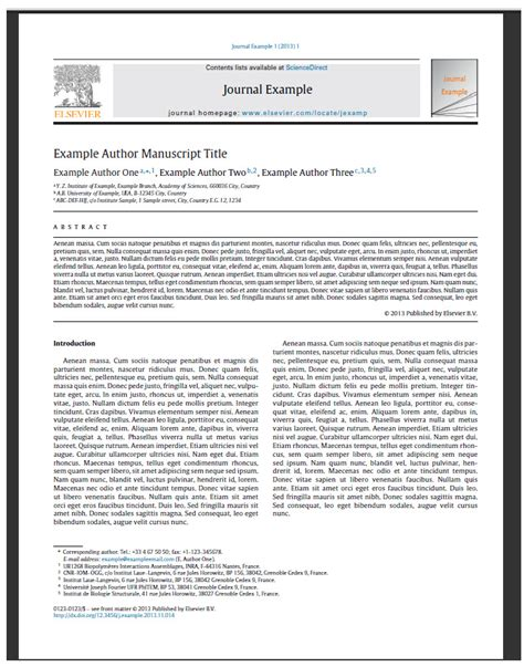 19 elsevier journal paper template