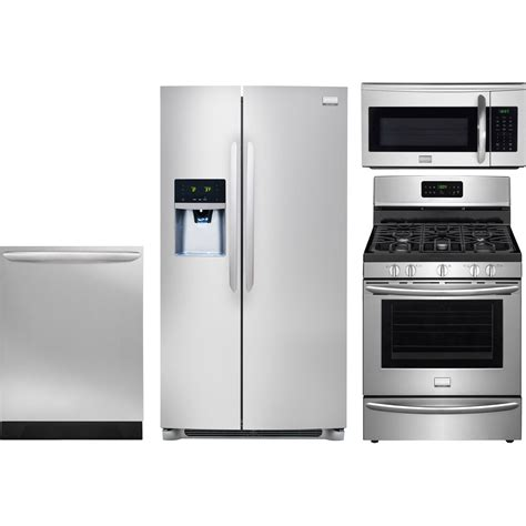 frigidaire kitchen appliance packages frigidaire 4 piece kitchen package with fggf3035rf gas