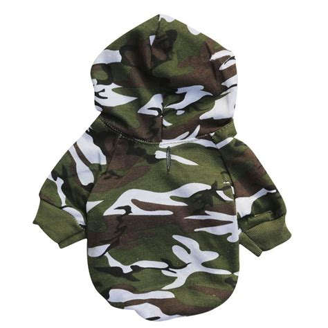 puppy sweatshirts puppy pet clothes winter camouflage sweatshirts clothes for small dogs