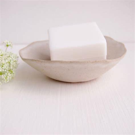 Handmade Soap Dishes - handmade white ceramic stoneware soap dish by kabinshop