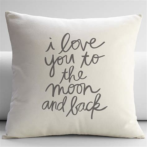 We Had Here Pillow by You To The Moon And Back Throw Pillow Ivory