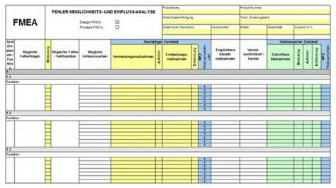 excel tool fmea formblatt tqm training und consulting