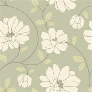 Modern Floral Wallpaper by The Wallpaper Company 20 5 In W Sage Large Scale Modern