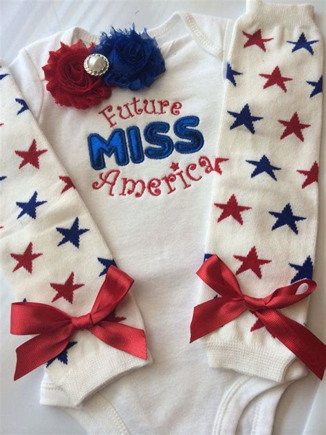 Girly Jumpsuit Bayi baby future miss america 4th of july baby patriotic baby newborn