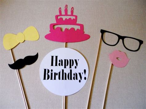 printable photo booth props birthday happy birthday photo booth props birthday party pure