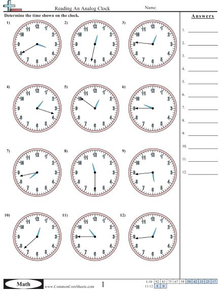 worksheet clock reading reading clocks worksheet free worksheets library