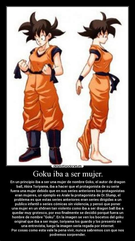 imagenes de goku mujer goku iba a ser mujer desmotivaciones