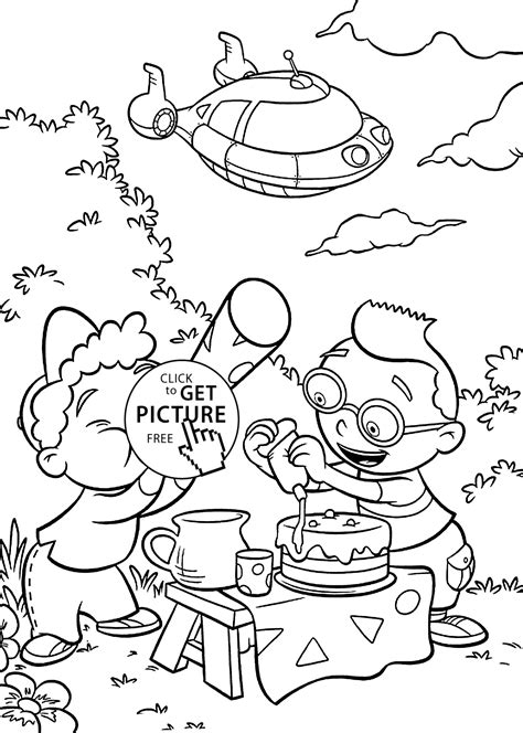 Little Einsteins Coloring Pages For Kids Printable Free Einsteins Coloring Pages