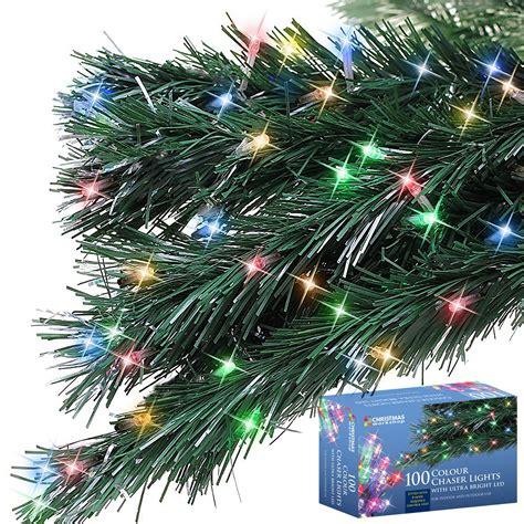 100 led string chaser christmas lights flash festive tree