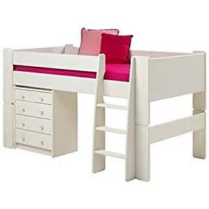 Toddler Beds Uk Only Steens Furniture Glossy White Childrens Mid Sleeper 3ft