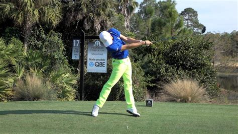 golf swing slow motion face on justin thomas 120fps slow motion face on driver golf swing