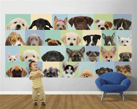 Dog Wall Murals blue good dog pre pasted mural