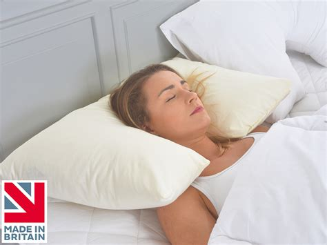 Pillows For Neck Side Sleeper inset neck and support spinal allignment side sleeper pillow lancashire textiles
