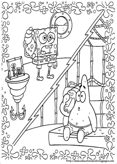 hard spongebob coloring pages spongebob coloring pages free for kids