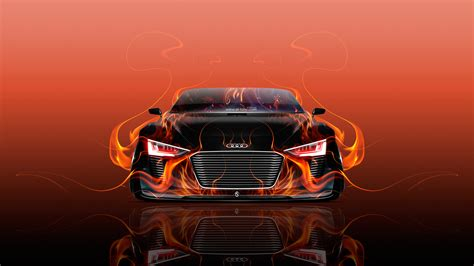 wallpaper abstract car audi e tron spyder front fire abstract car 2015 wallpapers