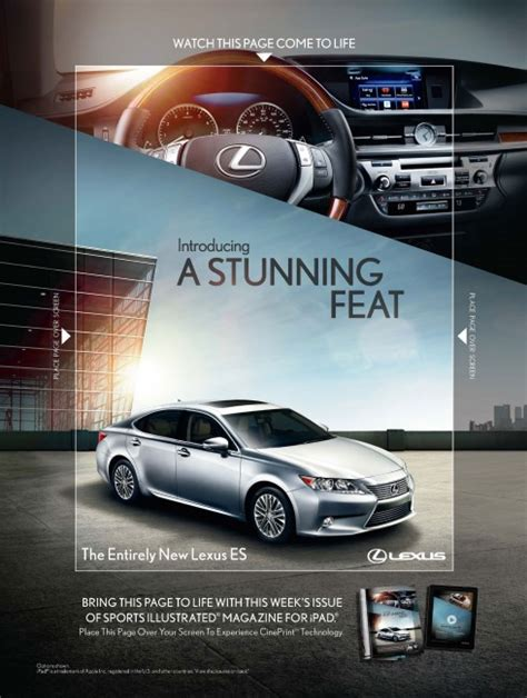 lexus ads print advertising for the ipad generation the latest