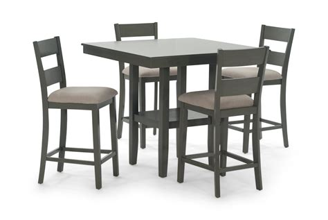 Counter High Table With Stools by Loft Grey Counter Table With 4 Counter Stools Hom Furniture