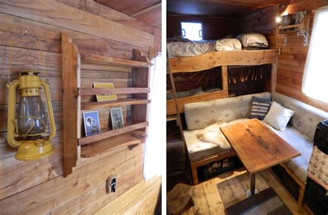 Small Home Decorating Blogs by Welsh Couple Transform Old Vans Into Rustic Campers With