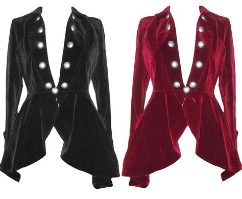 riding jackets velvet gothic victorian lady vire riding jacket