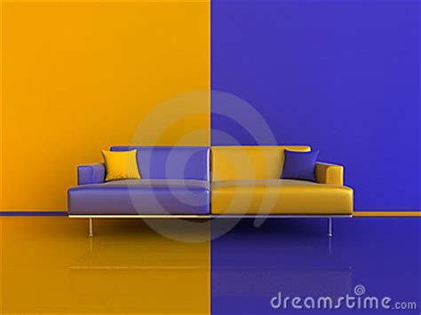 orange blue contrast interior royalty free stock images