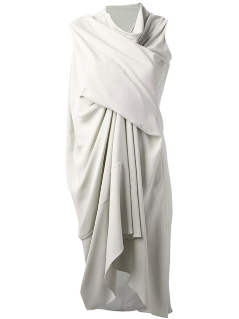 how to do draping on a dress dress rick owens draped dress white dress wheretoget