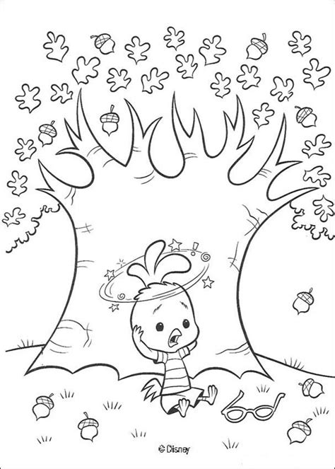 chicken little falls coloring pages hellokids com
