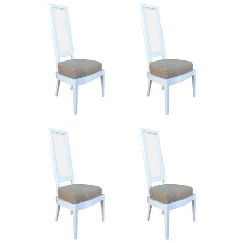 White Acrylic Dining Chairs Set Of Four 1970s White Lacquer And Lucite Dining Chairs For Sale At 1stdibs