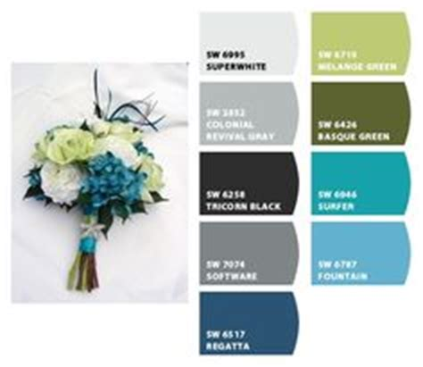 colors turquoise and wedding on