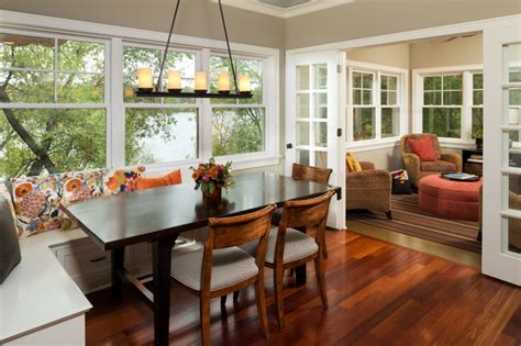 comfortable cottage style traditional dining room